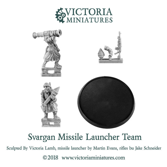 Svargan Shock Soldats Missile Launcher Team