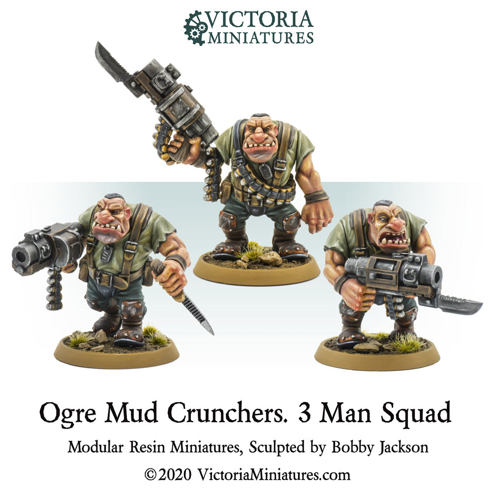 Ogre Mud Crunchers. 3 Man Squad