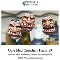 Ogre Mud Crunchers Heads x3