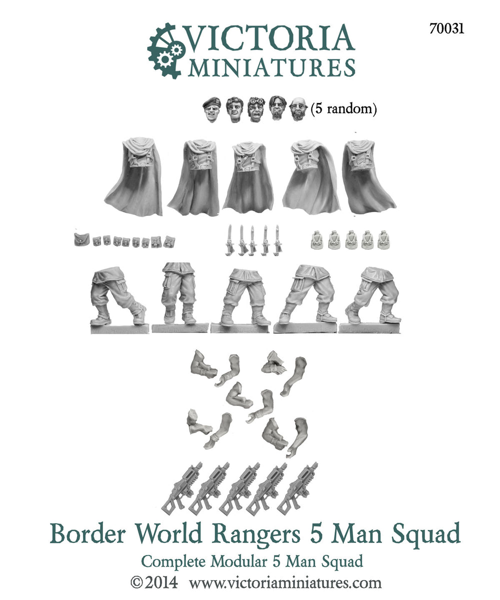 Border World Rangers 5 Man Squad.