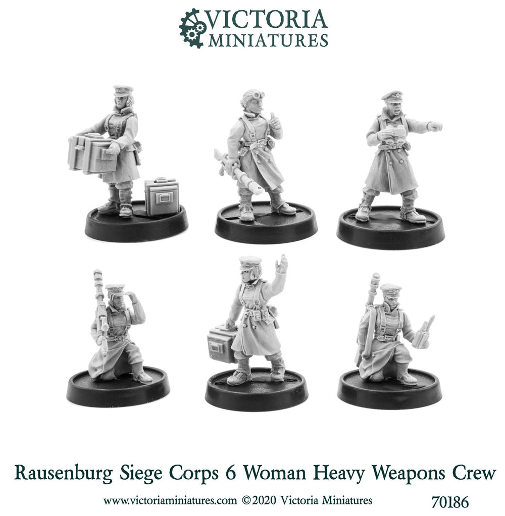 Rausenburg Siege Corps Heavy Weapons Crew (female)