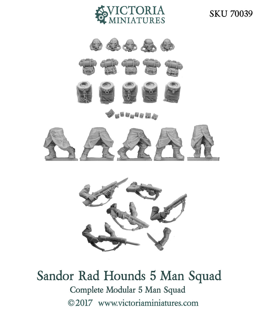 Sandor Rad Hounds 5 Man Squad.