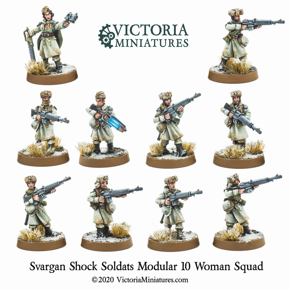 Svargan Shock Soldats 10 Woman Squad.