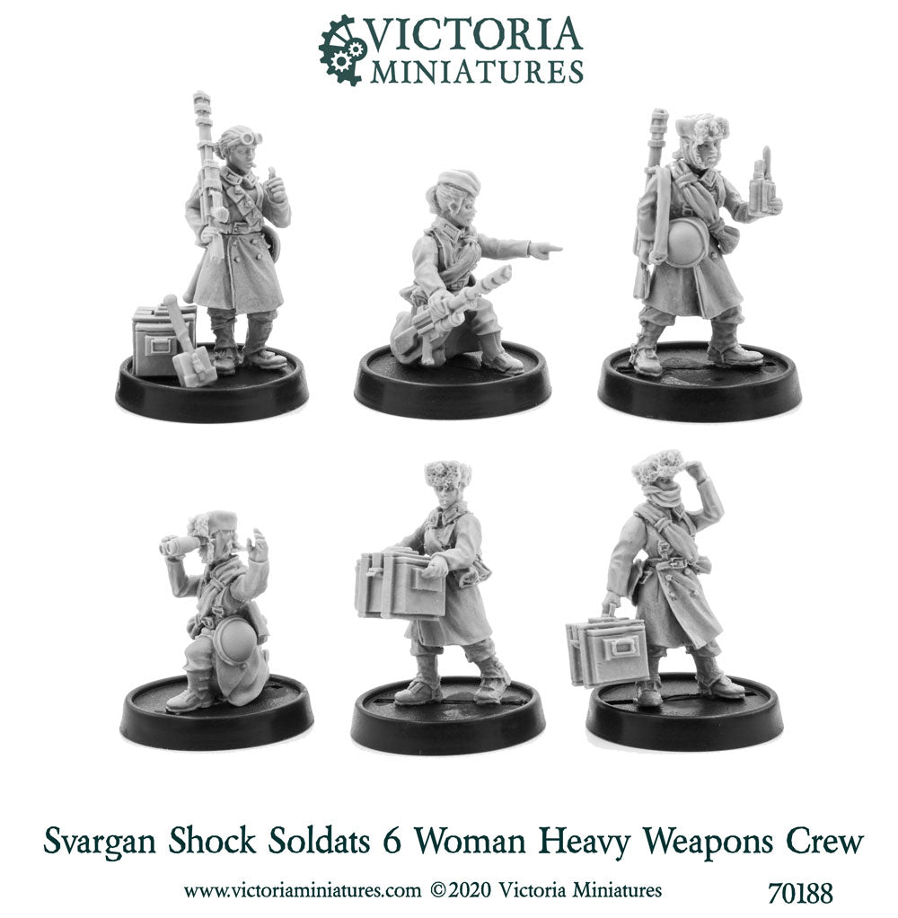 Svargan Shock Soldats Heavy Weapons Crew (female)