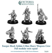 Svargan Shock Soldats Heavy Weapons Crew