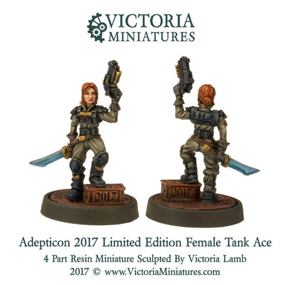 Adepticon 2017. Limited Collectors Edition, Female Tank Ace