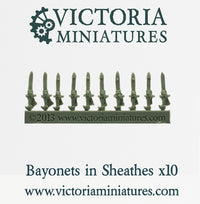 Bayonets in Sheathes (resin) x 10