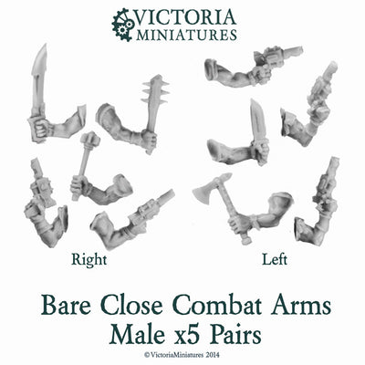 10 Bare Close Combat Arms Male