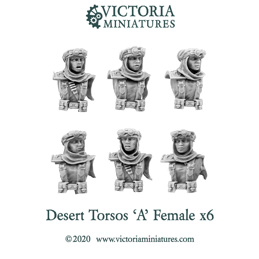 Desert Torsos with Heads 'A' Female