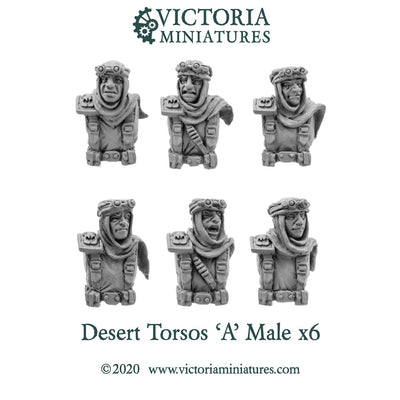 Desert Torsos with Heads 'A' Male
