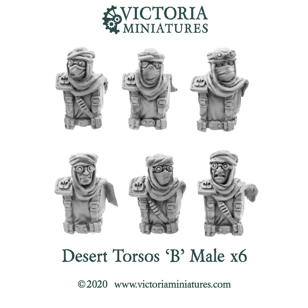 Desert Torsos with Heads 'B' Male