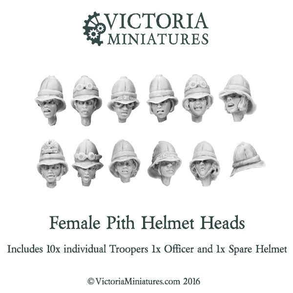 Female Pith Helmet Heads
