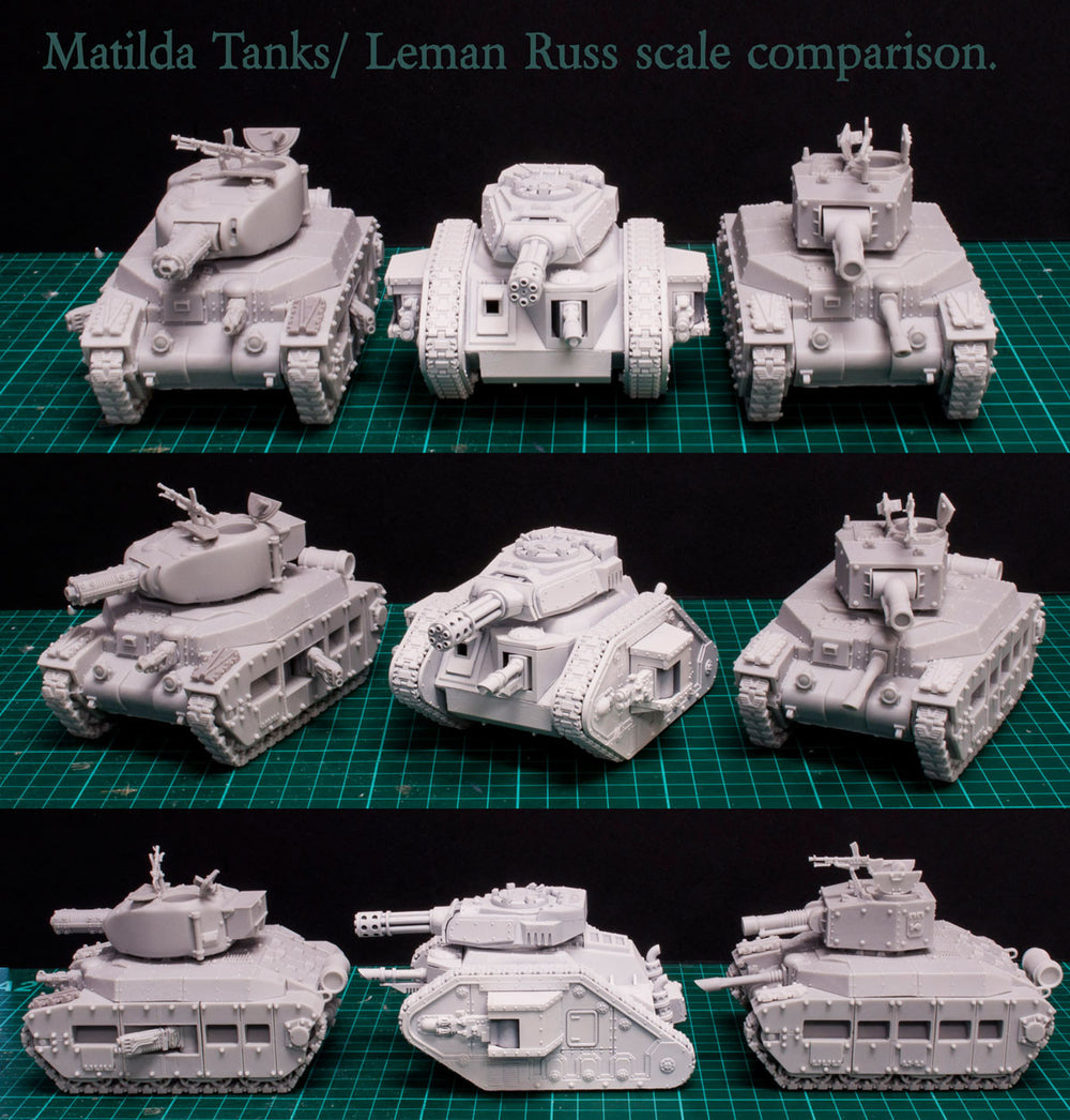 Matilda 'Fury' Turret Cannons