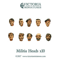 Militia Heads x10  (Male)