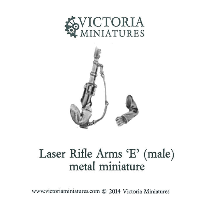 Laser Rifle arms 'F' (male, metal)