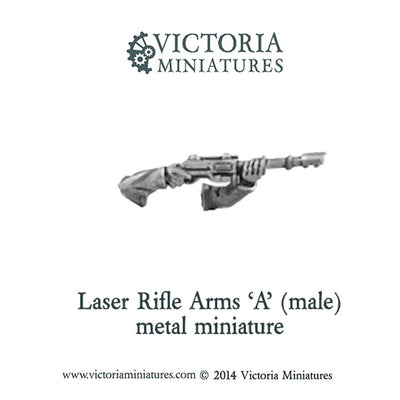 Laser Rifle arms 'A' (male, metal)