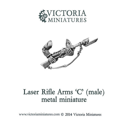 Laser Rifle arms 'C' (male, metal)
