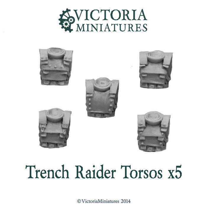 Trench Raider Torsos x5 (male)