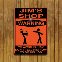 Shop Warning Sign