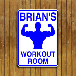 Workout Room Sign