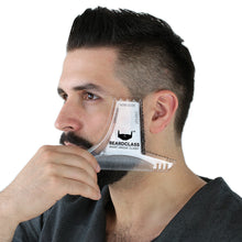 Beard Shaping Tool - 8 in 1 Multi-liner Beard Shaper Template Comb - (Clear)