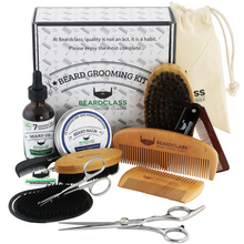 Beard Grooming Kit Set for Men (12 in 1) - Includes Beard Oil, Balm, Brush and Scissors