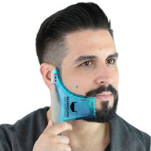 Beard Shaping Tool - 8 in 1 Multi-liner Beard Shaper Template Comb - (Clear Blue)