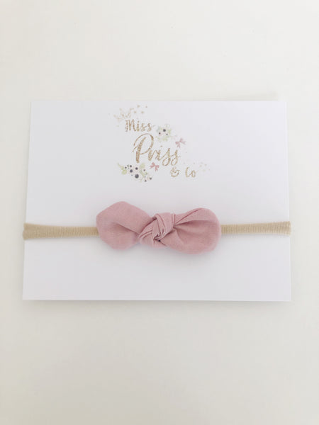 Blush Pink Bella Bow