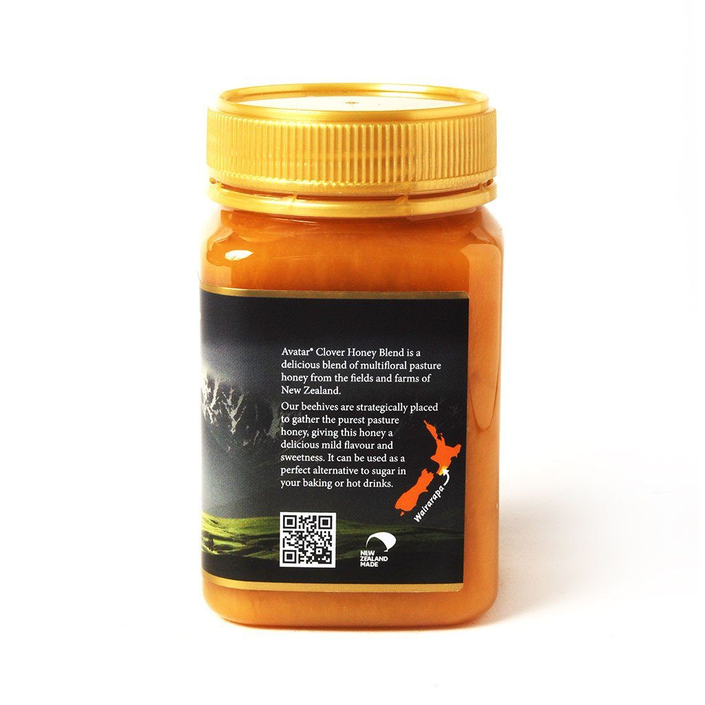 Clover Honey Blend By Avatar Honey New Zealand 500g & 1kg Packs Clover Blend New Zealand Avatar Honey NZ