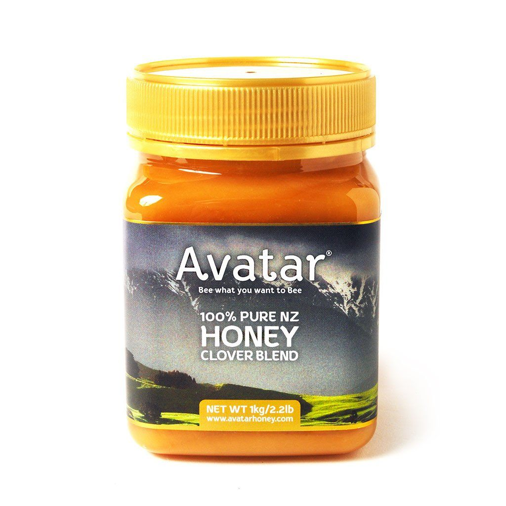 Clover Honey Blend By Avatar Honey New Zealand 500g & 1kg Packs Clover Blend New Zealand Avatar Honey NZ 1kg