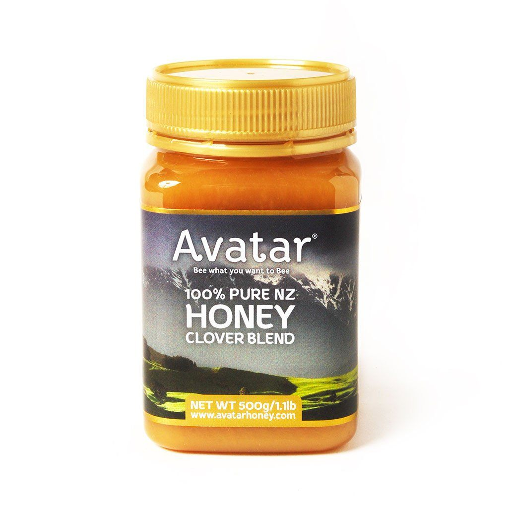 Clover Honey Blend By Avatar Honey New Zealand 500g & 1kg Packs Clover Blend New Zealand Avatar Honey NZ 500g