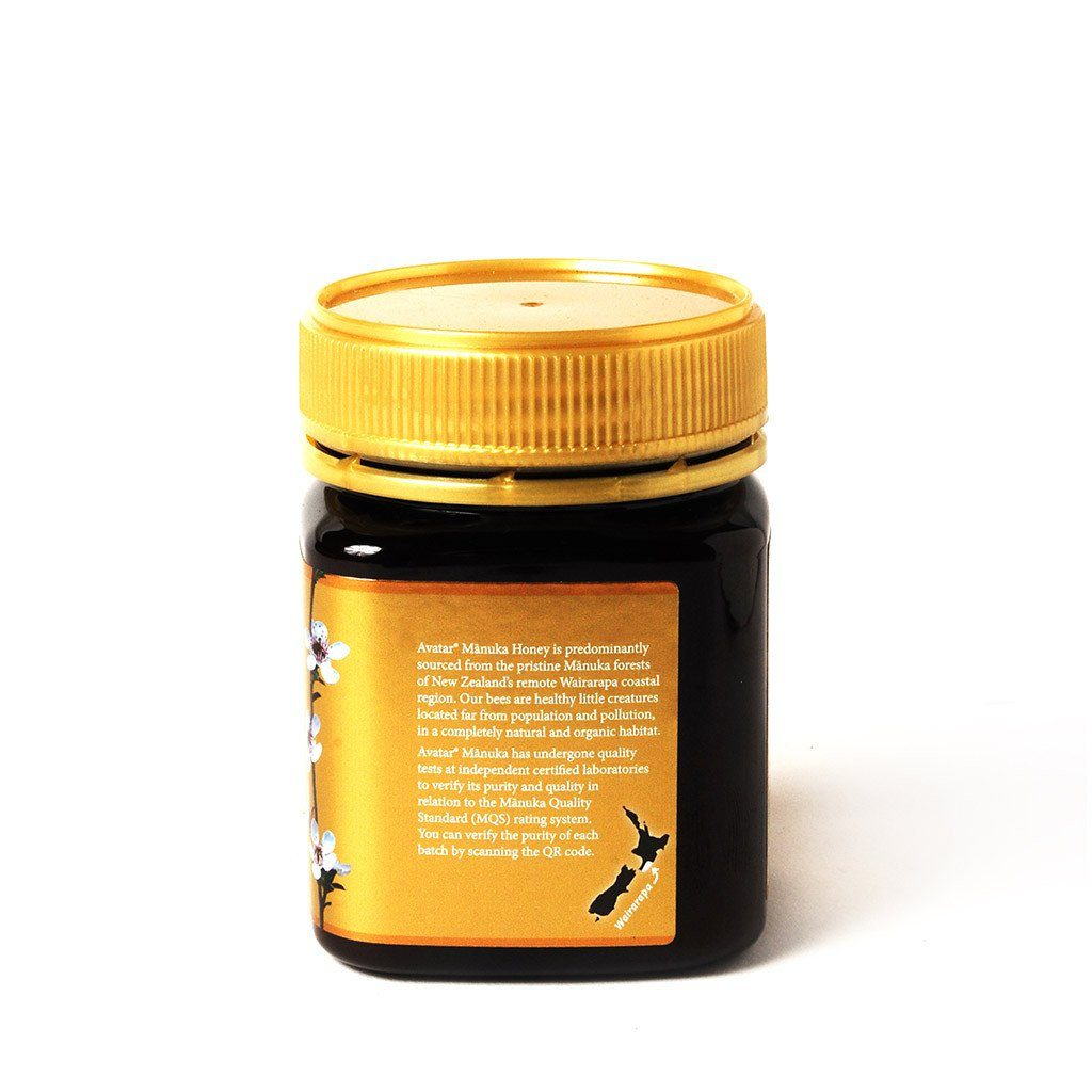 Our Highest Grade Manuka Honey - Gold Label MGO800+ MQS20+ 250g Manuka Honey Avatar Honey NZ