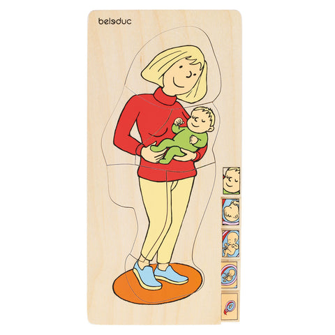 Beleduc 5-in-1 Puzzle Mother w child (German Brand)