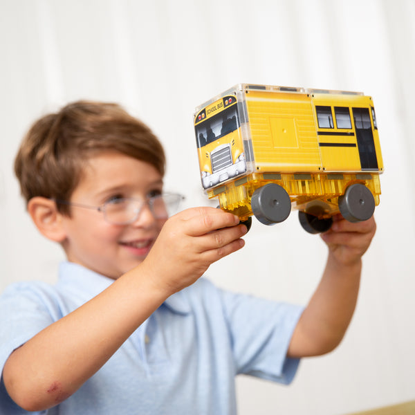 Zoom! 123 Yellow School Bus Magna-Tiles®
