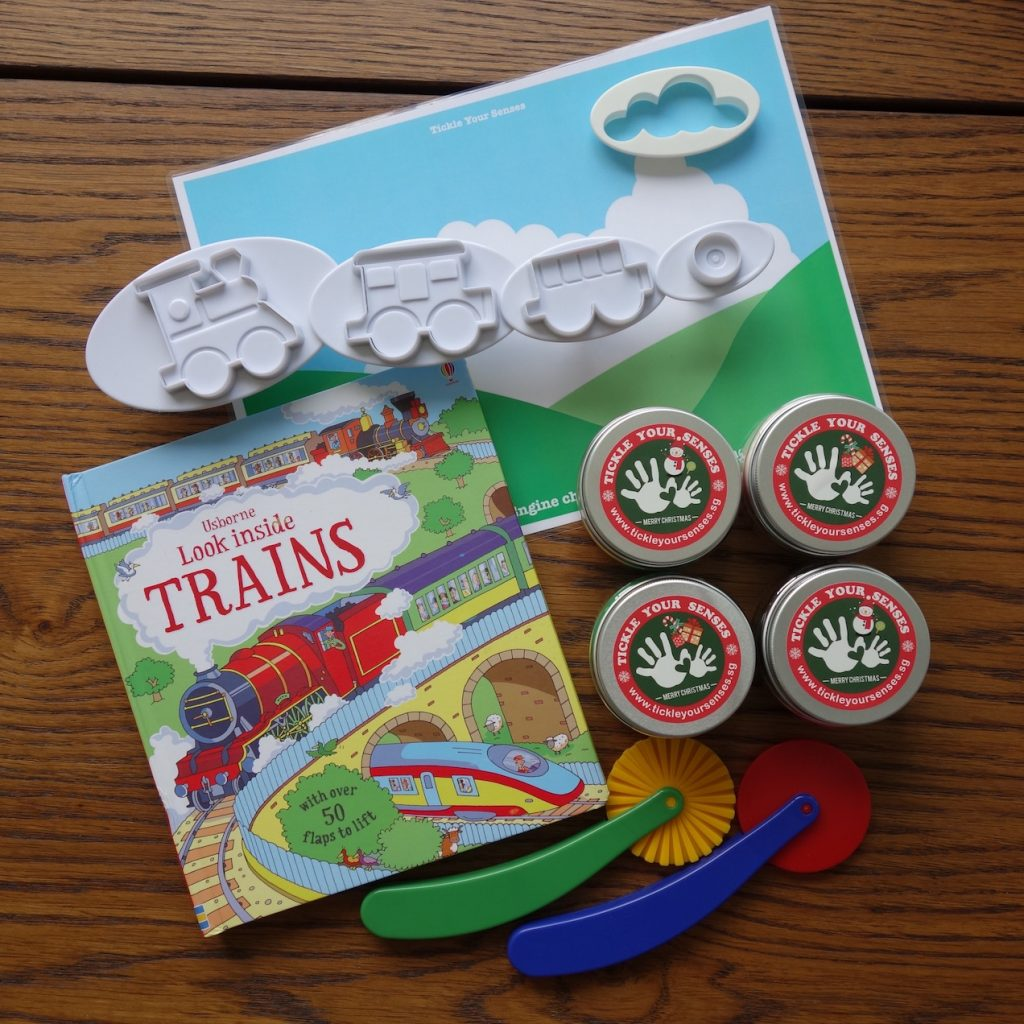 Trains Playdough Book Kit
