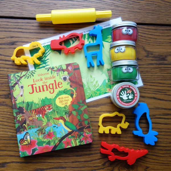 Jungle Playdough Book Kit