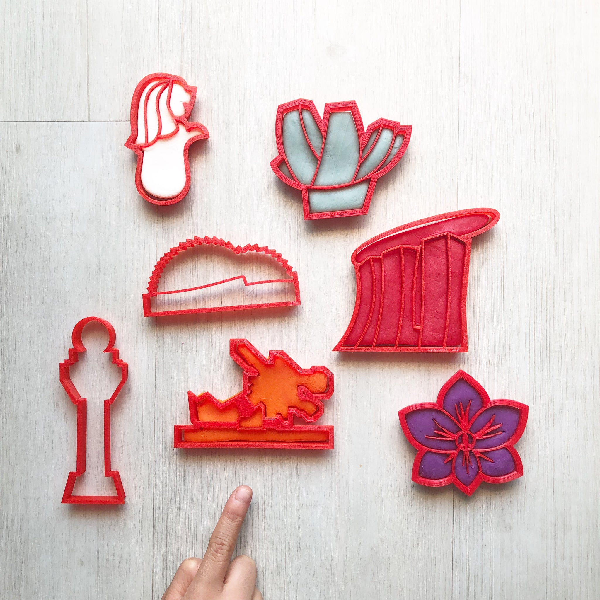 Singapore Heritage Playdough Cutters Collection I