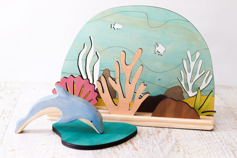 Story Scene - Underwater Ocean Set w/ Stand included