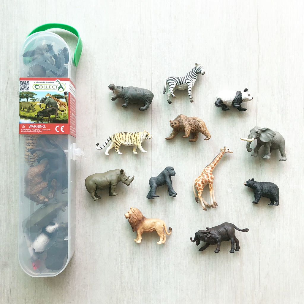 Collect A Box of Mini Wild Animals