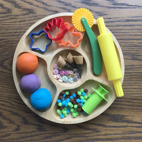 Wooden Sensory Play Plate (Round)