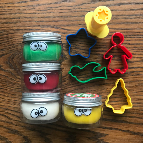 Christmas Cutters Playdough Kit