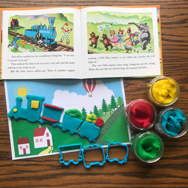"""The Little Engine that Could"" Playdough Book Kit"