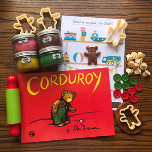 Corduroy Playdough Book Kit