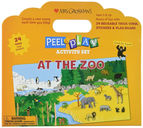 AT THE ZOO PEEL & PLAY SET
