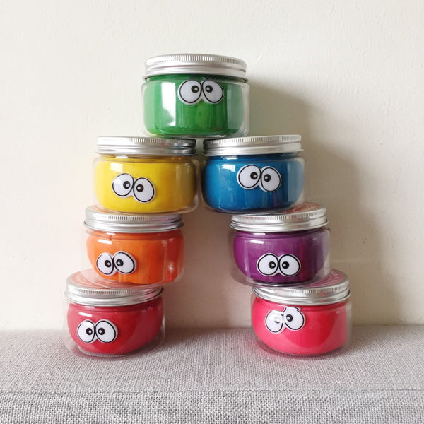 Jumbo Rainbow Set Playdough Tubs