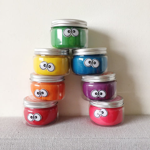 Rainbow Set Playdough Tubs