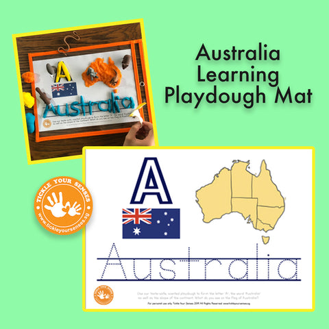 Australia Learning Playdough Mat Printable