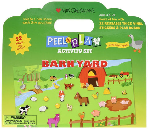 BARNYARD PEEL & PLAY SET