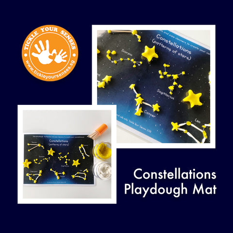 Constellations Playdough Mat Printable