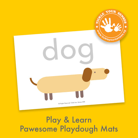 Chinese New Year Doggy Playdough Mat Printable